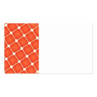 Orange Fishing Net Mosaic Tile Grid Pattern Gifts Business Card Templates
