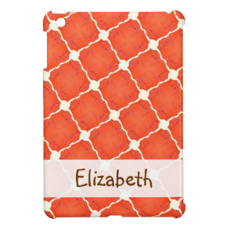 Orange Fishing Net Mosaic Tile Grid Pattern Gifts iPad Mini Cover