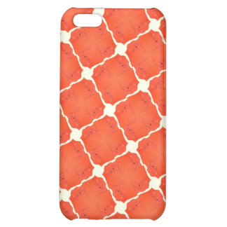 Orange Fishing Net Mosaic Tile Grid Pattern Gifts Cover For iPhone 5C
