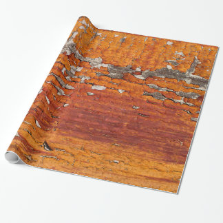 Orange Flaking Paint Wrapping Paper