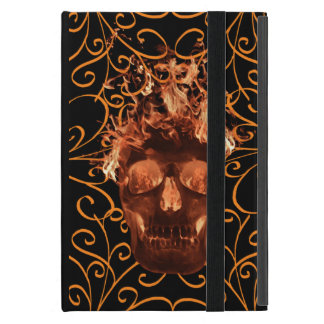 Orange Flame Skull iPad Mini Case