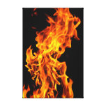 Orange flame stretched canvas prints