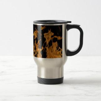Orange Flame Travel Mug