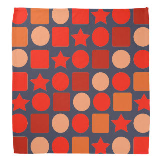 Orange-Flavored Geometric Bandana