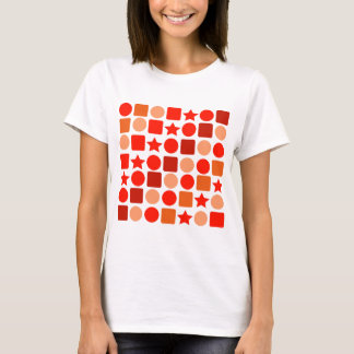 Orange-flavored Geometrics on Women's Tee