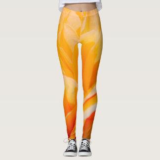 Orange Flora Leggings