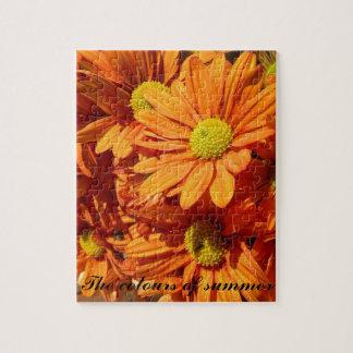 Orange floral jigsaw puzzles
