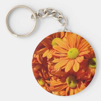 Orange floral keychain