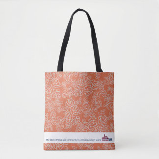 Orange Floral Museum LA Tote Bag