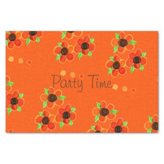 Orange Floral Paper Products