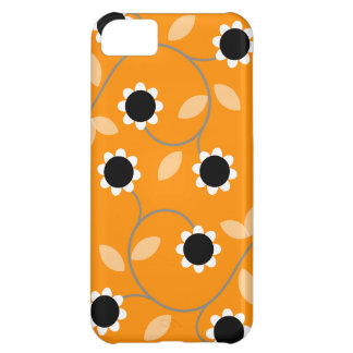 Orange Floral Pattern Case For iPhone 5C