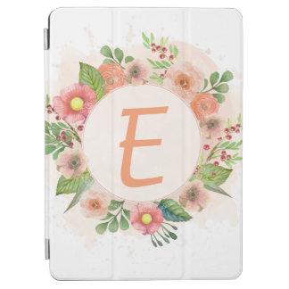 Orange floral watercolor wreath iPad air cover