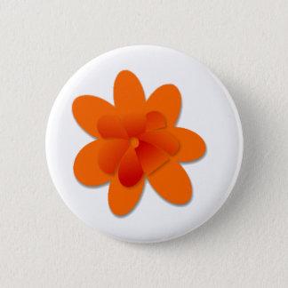 Orange Flower 2 Inch Round Button