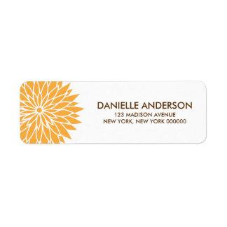 Orange Flower Address Return Labels