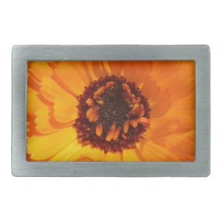 Orange Flower Belt Buckle