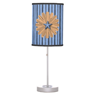 orange flower blue stripped decorative lamp shade