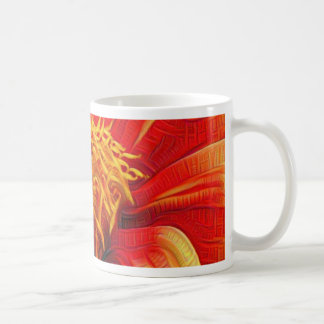 Orange Flower, DeepDream style Coffee Mug