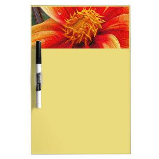 Orange Flower, DeepDream style Dry Erase Board