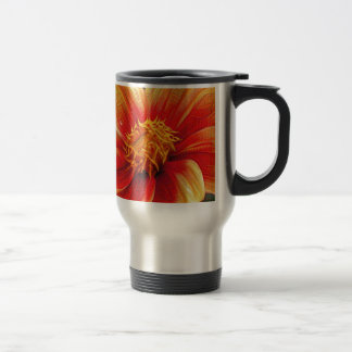 Orange Flower, DeepDream style Travel Mug