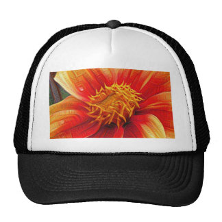 Orange Flower, DeepDream style Trucker Hat