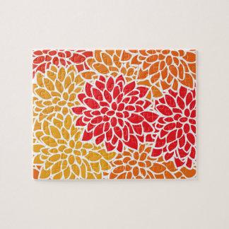 Orange Flower Modern Contemporary Jigsaw Puzzle