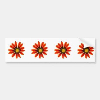 Orange Flower Pattern Bumper Sticker