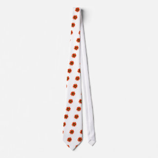 Orange Flower Pattern Tie