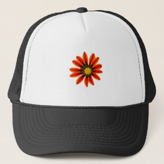 Orange Flower Pattern Trucker Hat