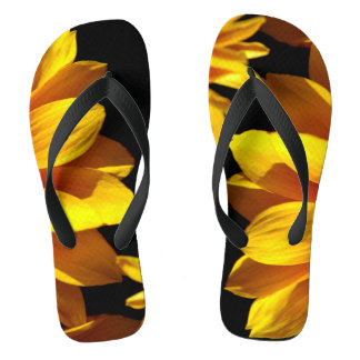 Orange Flower Petals Photograph On Flip Flops