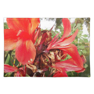 orange flower placemat