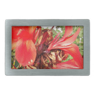 orange flower rectangular belt buckle
