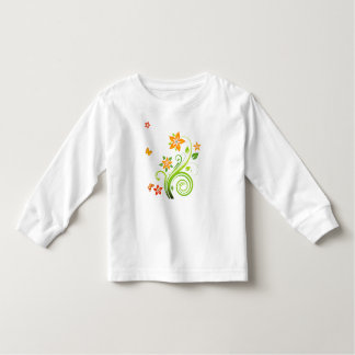 Orange Flowers and Butterflies Toddler T-shirt