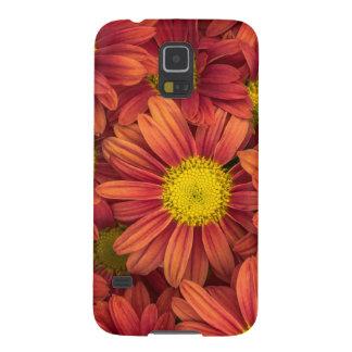 Orange Flowers Galaxy S5 Cover