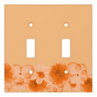 Orange Flowers Light Switch Cover
