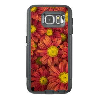 Orange Flowers OtterBox Samsung Galaxy S6 Case