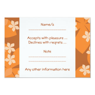 Orange Flowers. Retro Floral Pattern. Card