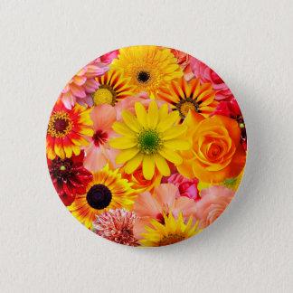 Orange flowers_ Sanchez Glory 2 Inch Round Button