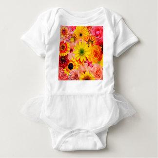 Orange flowers_ Sanchez Glory Baby Bodysuit