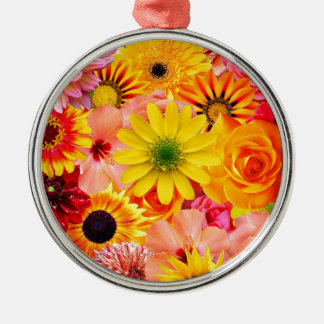 Orange flowers_ Sanchez Glory Metal Ornament