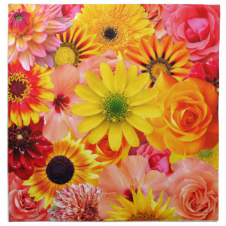 Orange flowers_ Sanchez Glory Napkin