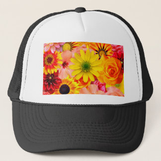 Orange flowers_ Sanchez Glory Trucker Hat