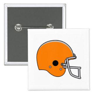 Orange Football Helmet Pinback Button