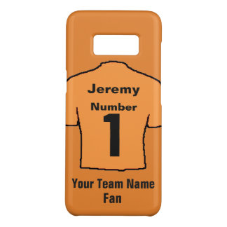 Orange Football Shirt. Customise the name and team Case-Mate Samsung Galaxy S8 Case