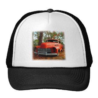 Orange Forties Junk Yard Sedan Trucker Hat