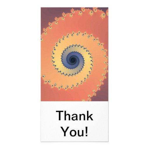 Orange Fractal Photo Card Template