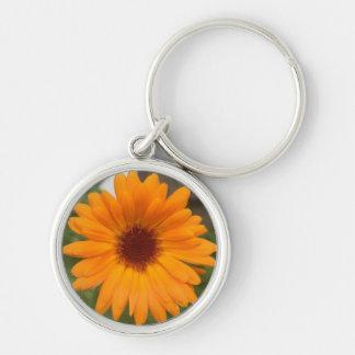 Orange from the Garden Silver-Colored Round Keychain