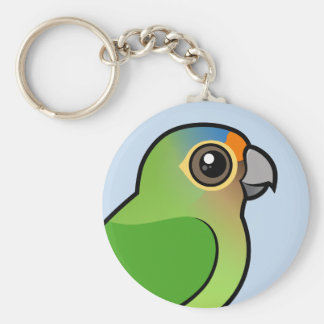 Orange-fronted Parakeet Keychain