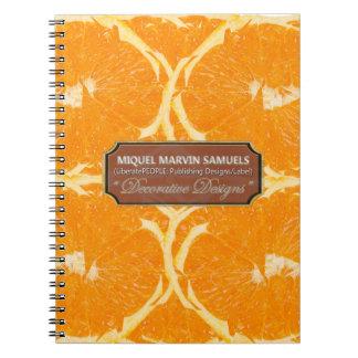 Orange Fruit Decorative Nature Modern Notebook
