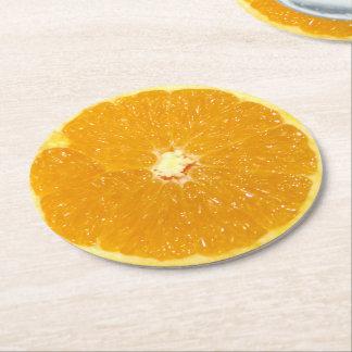 Orange Fruit Fresh Slice - Paper Coaster