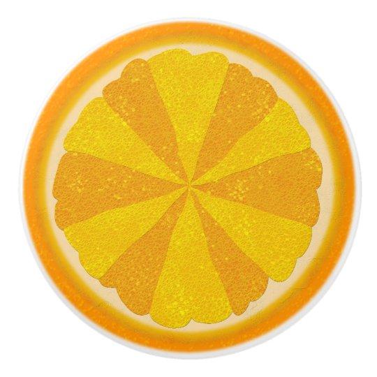 Orange Fruit Half Pretty Summer Kitchen Ceramic Knob